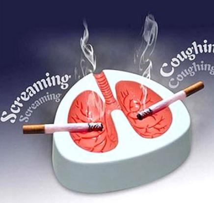 Кашляющая пепельница для курильщиков - повод быстро бросит курить