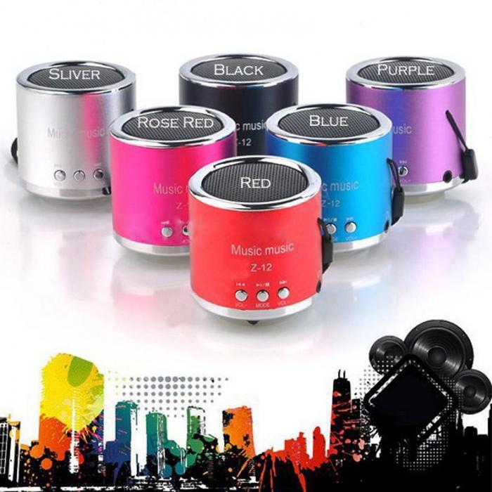 Мини колонка Z-12 динамик с FM радио USB / FM / MP3 / TF - card USB / FM / MP3 / TF - card радиоприемник