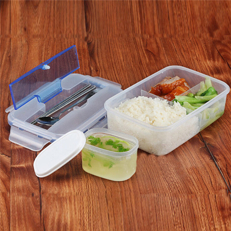 Контейнер для завтрака и ланча с ложкой и палочками + емкость чаша для супа