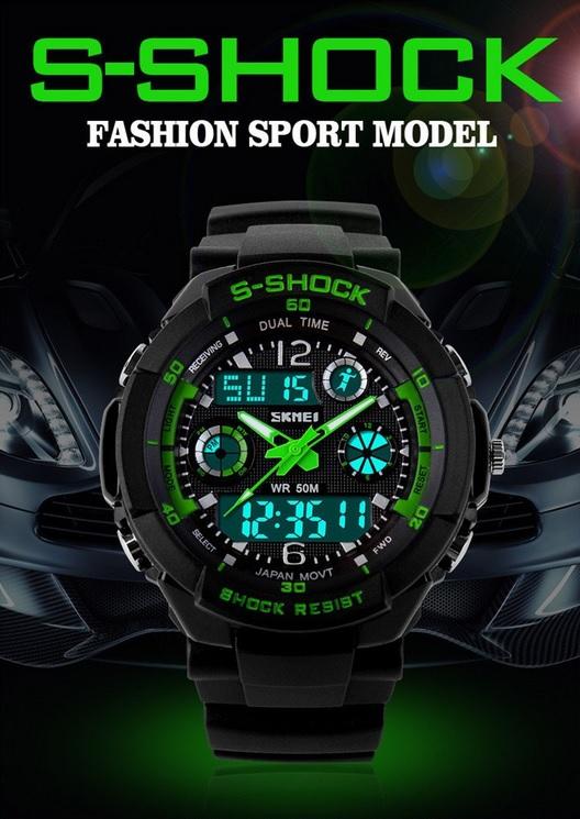 Часы электронные водонепроницаемые для подводной охоты S-SHOСK 7 расцветок спортивные