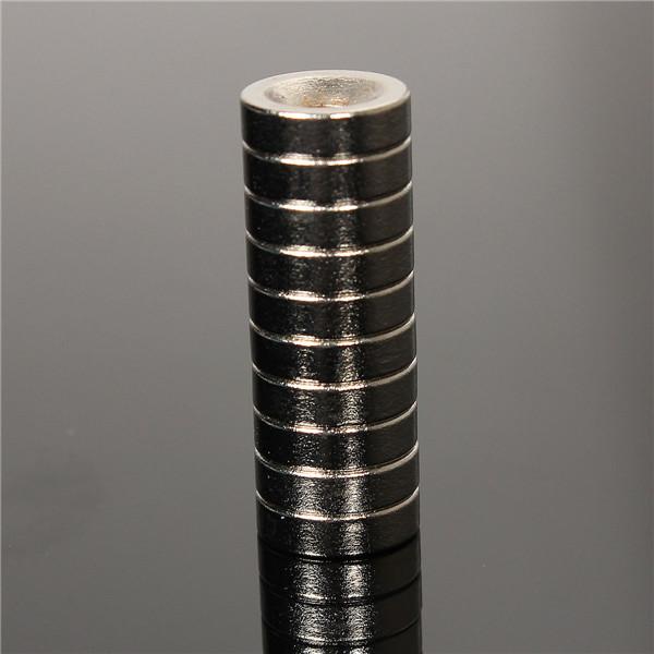 10 штук набор НЕОДИМОВЫЙ МАГНИТ 10мм х 3мм круглые с отверстием 3мм