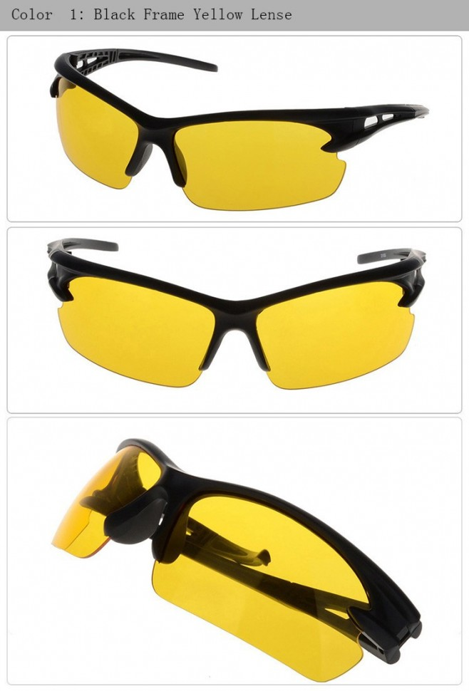 Солнцезащитные очки водителя спорт для управления транспортом ночью и в плохо освещенной местности