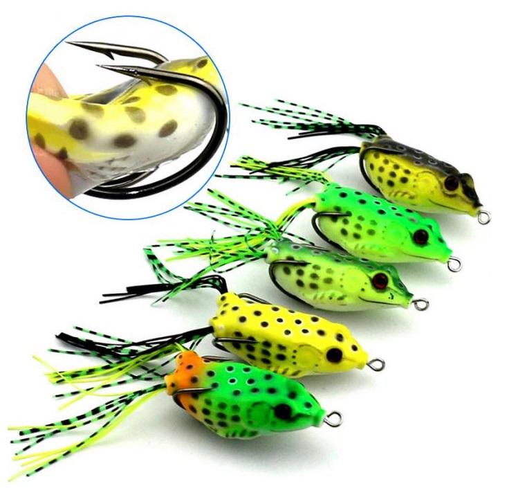 6.5см мягкая приманка лягушка с крючками для успешной рыбалки