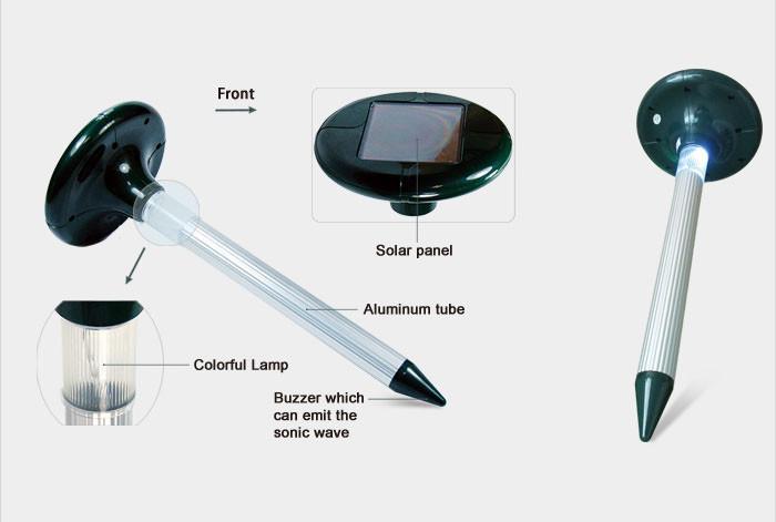 Отпугиватель грызунов и насекомых на солнечной батарее