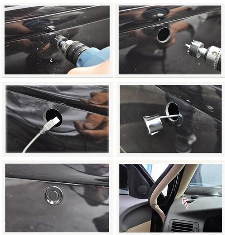 Парктроник с датчиками парковки и дисплеем экраном 5 цетов
