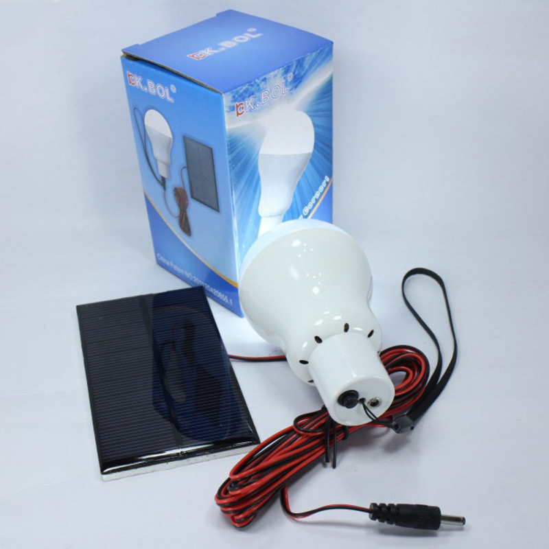 Светодиодный походный светильник лампа на солнечной батарее и аккумуляторе для районов без электричества