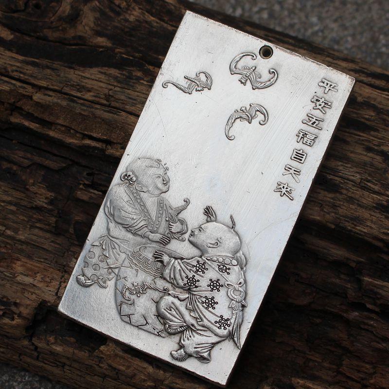 Танка Тибет древний Китай Fuwa тибетское серебро