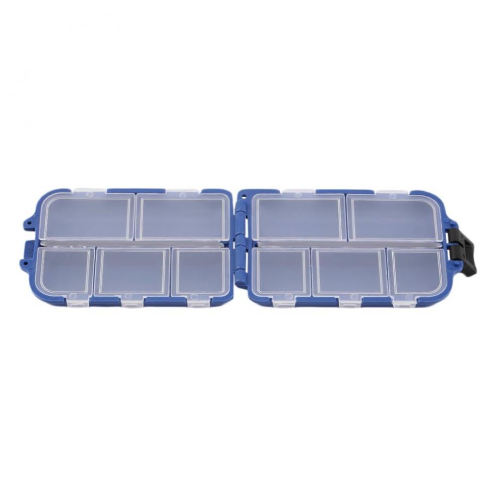 Рыбацкий ящик кейс контейнер коробка футляр для крючков блесен поплавков приманок мелких вещей