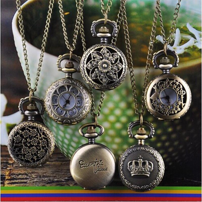 Антикварные часы кулон Корона империи на шею или карманные
