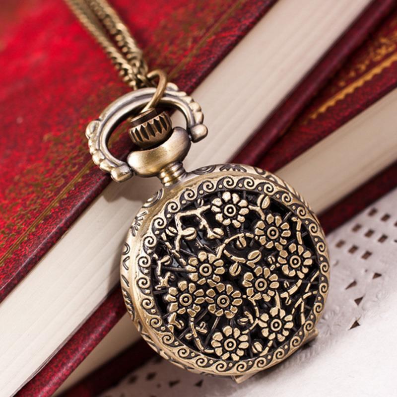 Антикварные часы кулон Поляна радости на шею или карманные