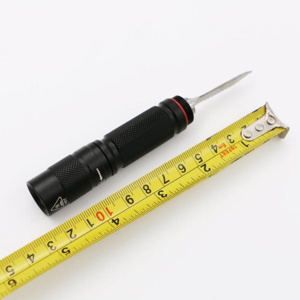 Тактический многофункциональный туристический охотничий нож с фонариком и отверткой для выживания