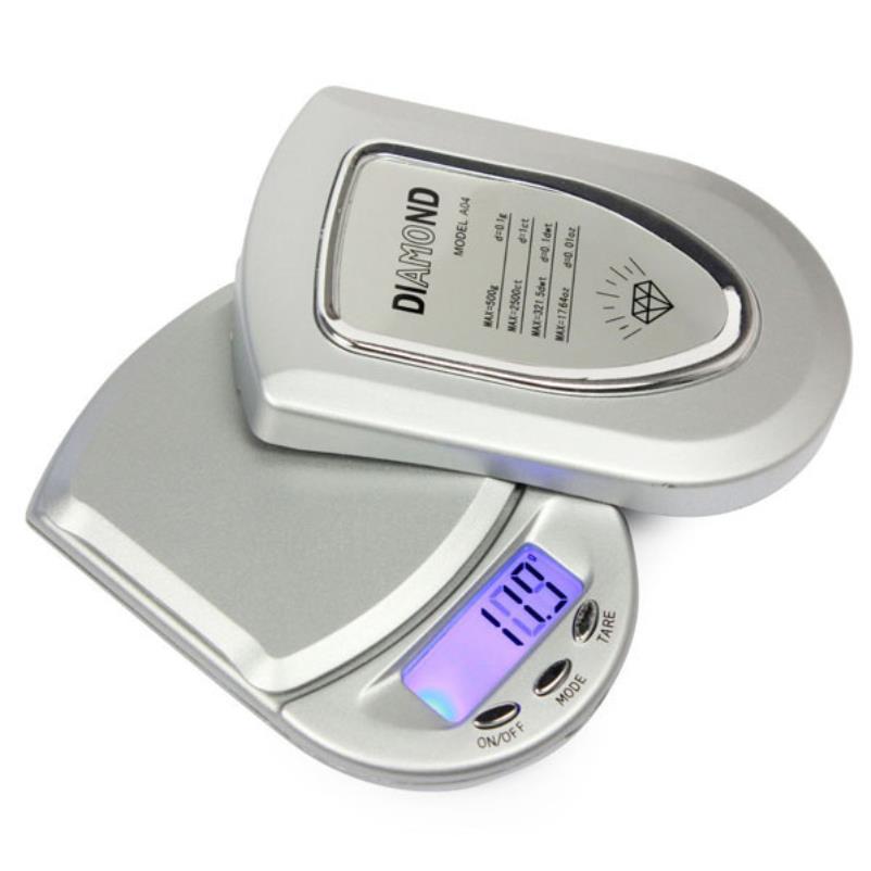 Карманные портативные ювелирные цифровые электронные весы 500гр х 0.1гр с подсветкой экрана