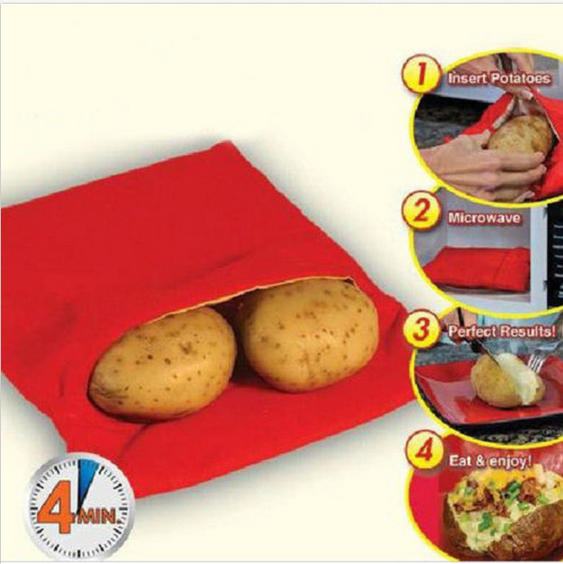 ВОЛШЕБНЫЙ МЕШОК - готовим картошу за 4 минуты в микроволновой печи СВЧ микроволновка