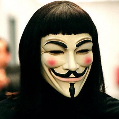 МАСКА Гая Фокса Anonymus Анонимус Вендетта новая
