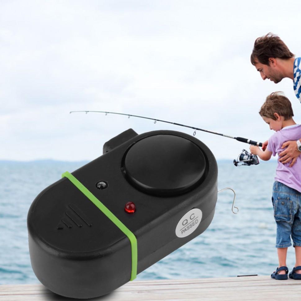Сигнализация поклевки рыбы звук свет LED светодиодная электронная рыбалка клев сигнализатор индикато