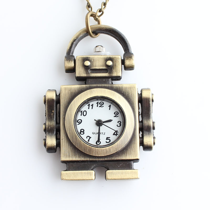 Часы кулон в форме робота