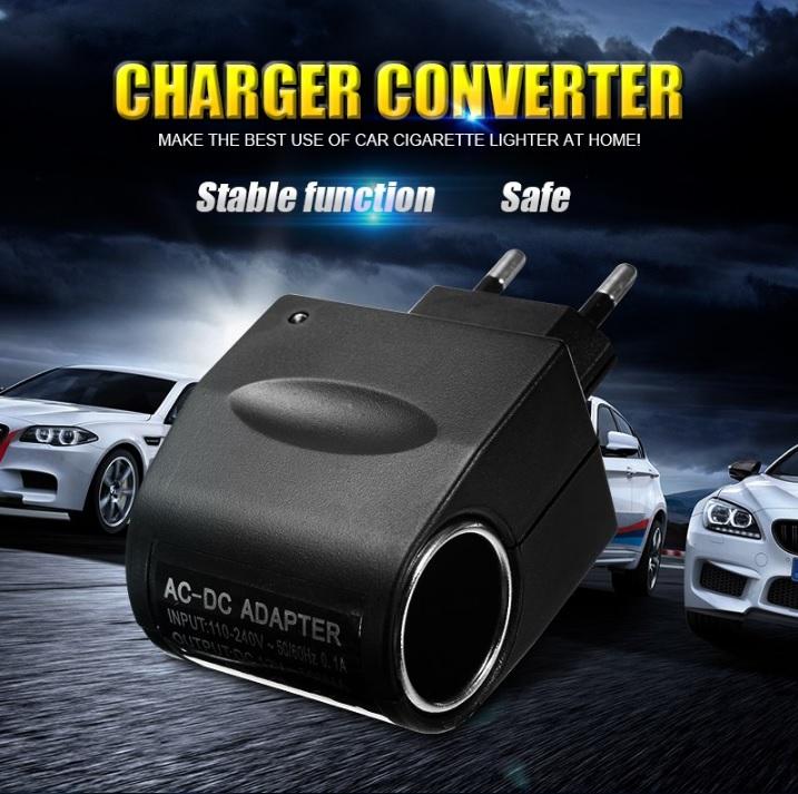 Автомобильное зарядное адаптер конвертер 220В в 12В Преобразователь напряжения