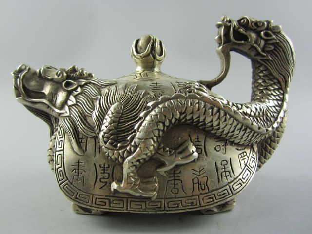 чайник ДРАКОН тибетское серебро древний Китай