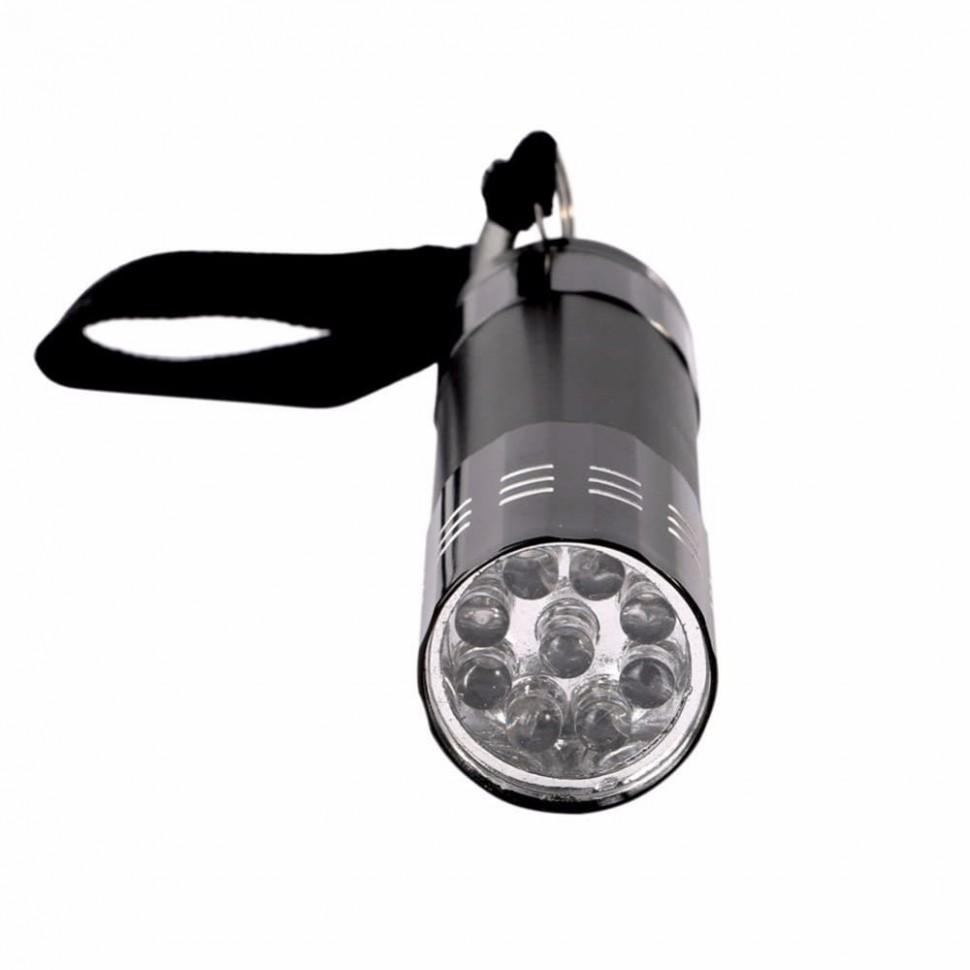Фонарь УЛЬТРАФИОЛЕТОВЫЙ УФ UF 9LED Светодиодный алюминиевый фонарик
