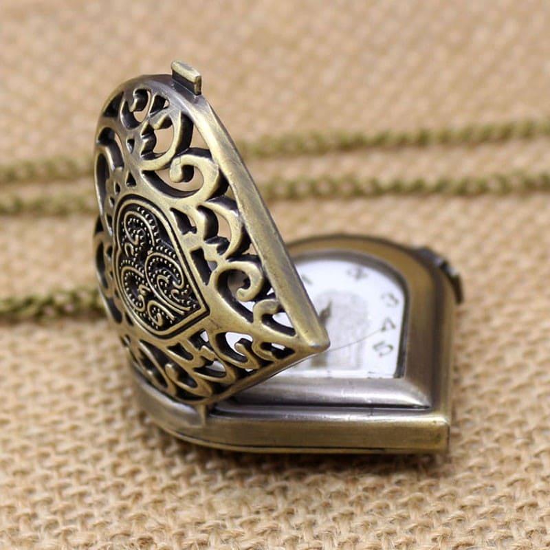 Коллекционные часы кулон ожерелье Сердце Любви на шею или карманные
