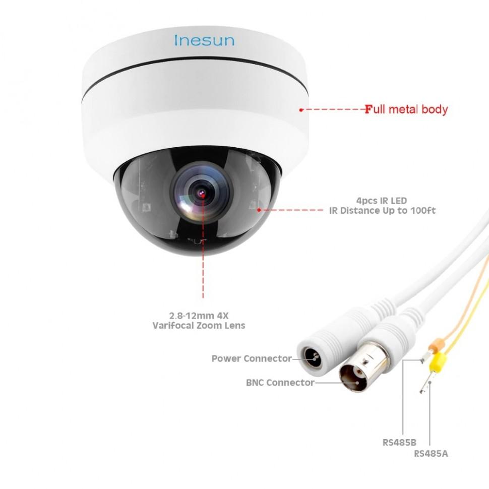 Водонепроницаемая камера с 2MP 1080 P 2,8-12 мм 4X переменным фокусным расстоянием 4 в 1 AHD TVI CVI CVBS 100ft ИК Ночное видение