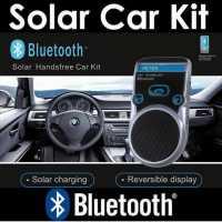 Hands free для машины автомобильная громкая связь Bluetooth c питанием от СОЛНЦА или аккумулятора , отображение номера звонящего