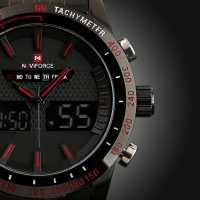 Серьезные массивные наручные кварцевые часы для настоящих мужчин аналоговые + цифровые