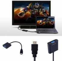 Кабель адаптер HDMI-VGA 06B