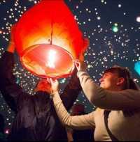 Летающий небесный китайский фонарик