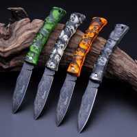 Красочный портативный складной нож со стальным лезвием и пластиковой ручкой 18см