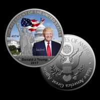 Счастливая монета на удачу Дональд Трамп американский 45 президент талисман магнит счастья и удачи Фен Шуй