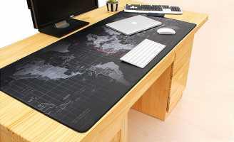 Большой игровой коврик на стол с картой мира для компьютерной мыши и клавиатуры 90 х 40 см