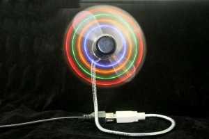 USB вентилятор со светодиодами
