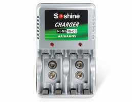 Зарядное устройство для аккумуляторов Ni-Mh / Ni-Cd AA , AAA и 9В батарей Soshine SC-Z23