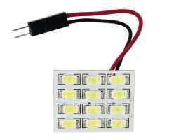 12 SMD 6060 LED Car Dome Light Bulb (White)