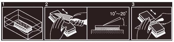 Как затачивать править ножи